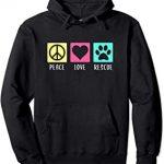 Peace Love Rescue Hoodie